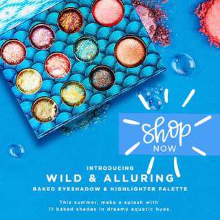 (READY STOCK) BH COSMETICS - Wild & Alluring Baked Eyeshadow And Highlighter Palette