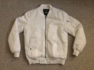 Brave Soul White Bomber Jacket
