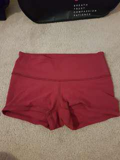 Pink Lululemon shorts