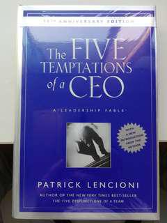 The 5 Temptation of a CEO - hard cover wrapped for protection