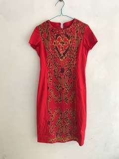 Dayak red dress