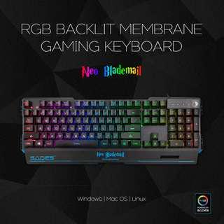 SADES Neo Blademail REAL RGB Backlit Gaming Keyboard