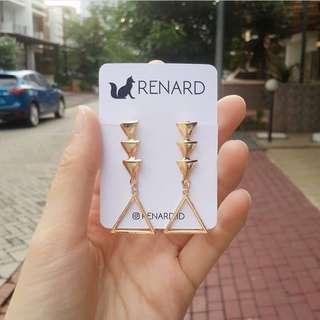 Nero Earring/ anting cantik / anting manis / anting keren / anting gaul / anting model / anting korea / anting import / anting fashion / anting pesta / anting lucu / anting imut
