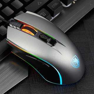 SADES Phantom Mechanical RGB Gaming Mouse (Grey Edition)