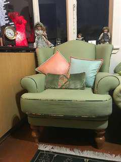 Large wing chair