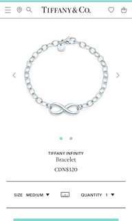 Tiffany Authentic Infinity Bracelet