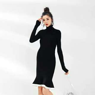 LAMMA Maternity, Black Wool Dress