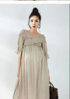 LAMMA Loose Maternity Dress, Suitable for Breastfeeding
