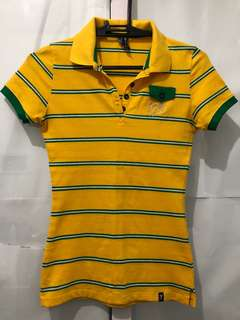Yellow stripes polo shirt