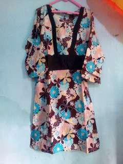 Dress batik flower
