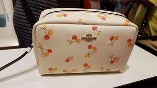 Coach cherry pouch
