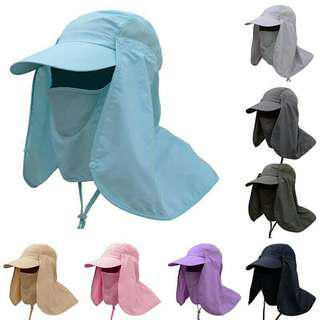 Face Neck Cover Sunshade Hat Fishing Uv Protection Cap