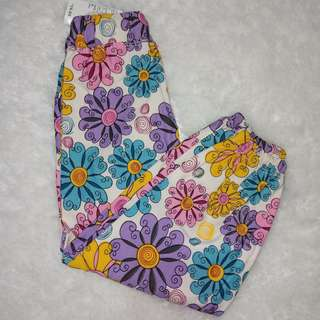 flowery jogger pants