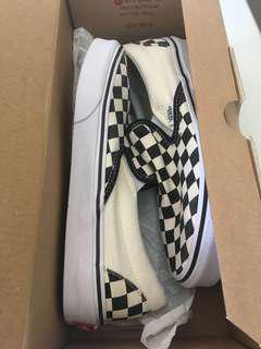 Checkered Vans (women's size 7.0)