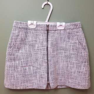 Topshop Tweed Zip-up Skirt