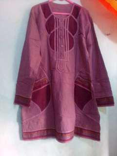 Tunik bordir purple