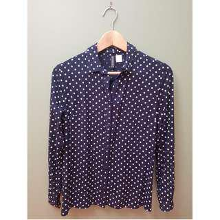 H&M Polka Dot Button-Up Shirt