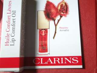 Clarins 2.8ml lip comfort oil color: red berry