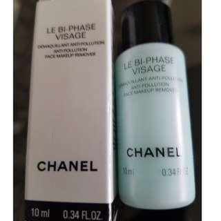 Chanel Le Bi-Phase Visage Anti-Pollution Face Makeup Remover 0.34 fl oz 10ml. NEW