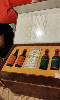 陳年老辦,北京同仁堂護骨藥酒&國公酒酒辦禮盒套装。一盒4支不散賣,每一套