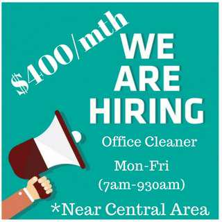 Part time morning Cleaner (5 day/week)