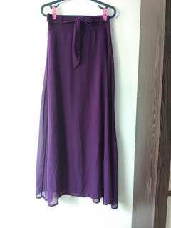 (BUY 2 RM30) Purple maxi Skirt
