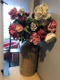 Big vase and flowers