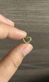 🚚 18k/750 Gold heart pendant