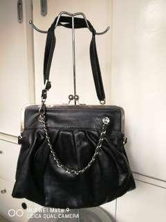 Millies leather 2 way bag