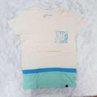 Oxygen Stripes Cream Blue T-shirt