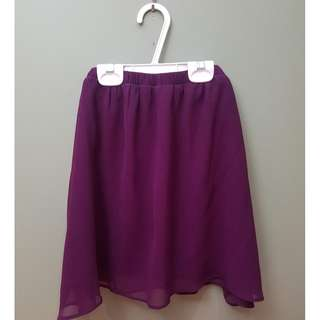 Garage Purple Chiffon Skirt