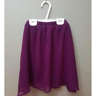 Garage Purple Chiffon Skirt