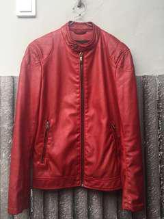 Zara Faux Leather Jacket Ori