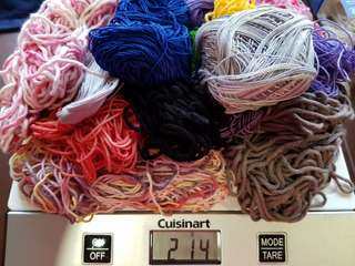 Take All Assorted Leftover Yarns