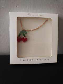 mr & mrs jones cherry necklace