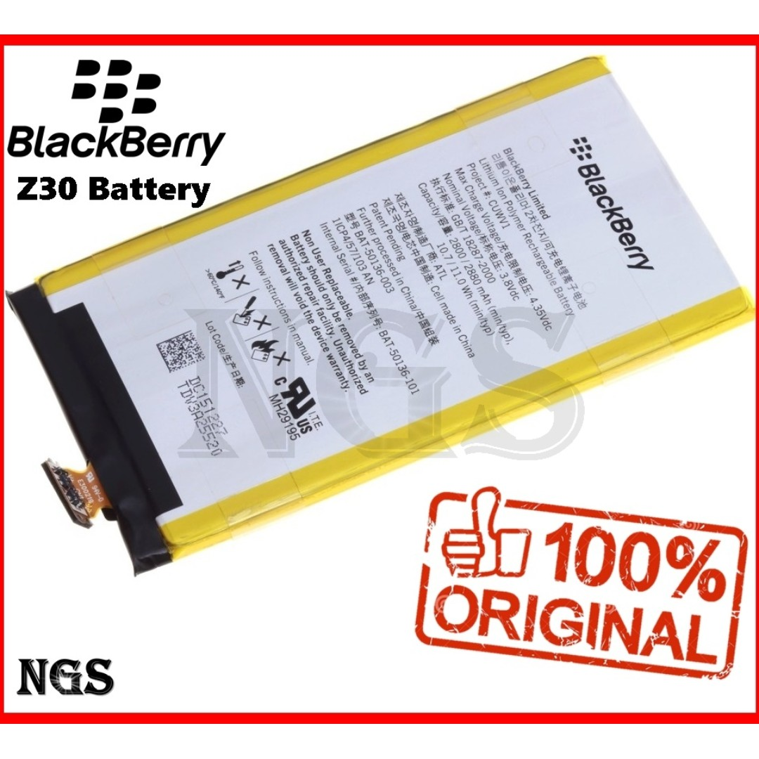 100% Ori Blackberry Z30 2880mAh Battery BAT-50136 with 8pcs opening Tools