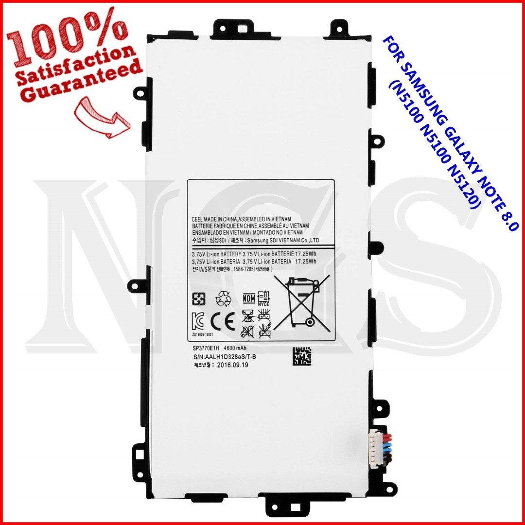 100 Ori Samsung Galaxy Note 8 N5100 N5110 N5120 4600mah Battery Baterai 3 Original Sp3770e1h Mobile Phones Tablets Others On Carousell