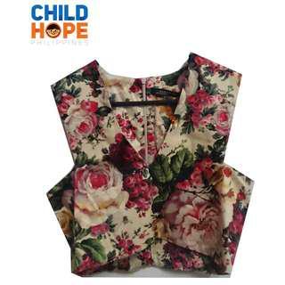 Zara Woman Vintage Rose Floral Crop Top