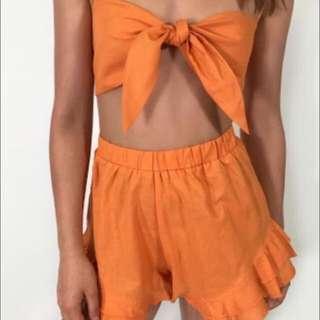 FREE POST orange tie up set