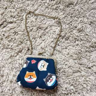 Shiba 柴柴柴犬和風手製小銀包 Handmade coin purse/ wallet
