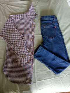 Kemeja &jeans