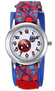 🚚 Marvel Boy's 'Emoji' Quartz Stainless Steel and Nylon Casual Watch, Color:Red (Model: WMA000093)