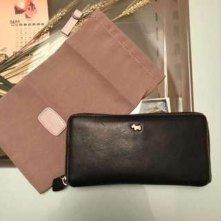 Radley London black long zip wallet / purse