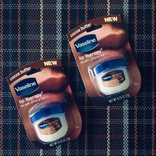 BunDEAL! 2pcs Vaseline Lip Therapy cocoa butter