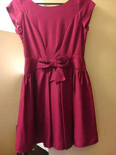 Barkin pink bow dress size AU 8