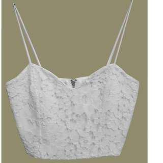 Laura Lehmann's White Crop Top (Topshop)