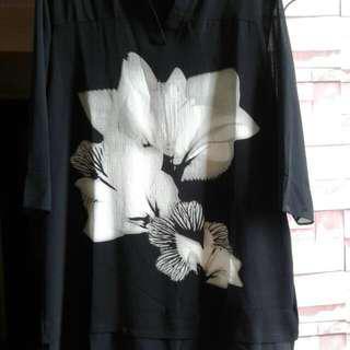 Chiffon Black Shirt