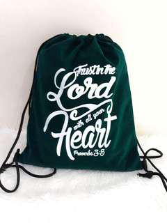 Drawstringbags with Bible Verse