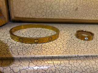 Cartier bracelet and Cartier Rings