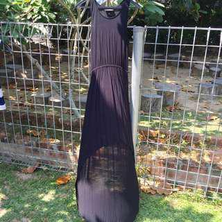 Monki short to long black dress